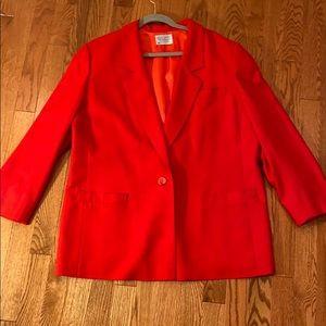 Woman's Pendelton Wool Blazer Red